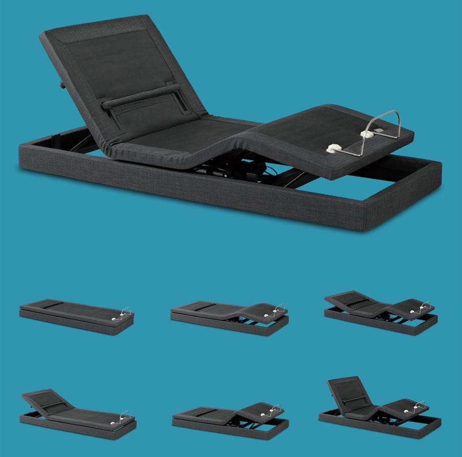Motorisiertes Bett Hi_motion: einstellbare Stellungen mit Touch-Fernbedienung