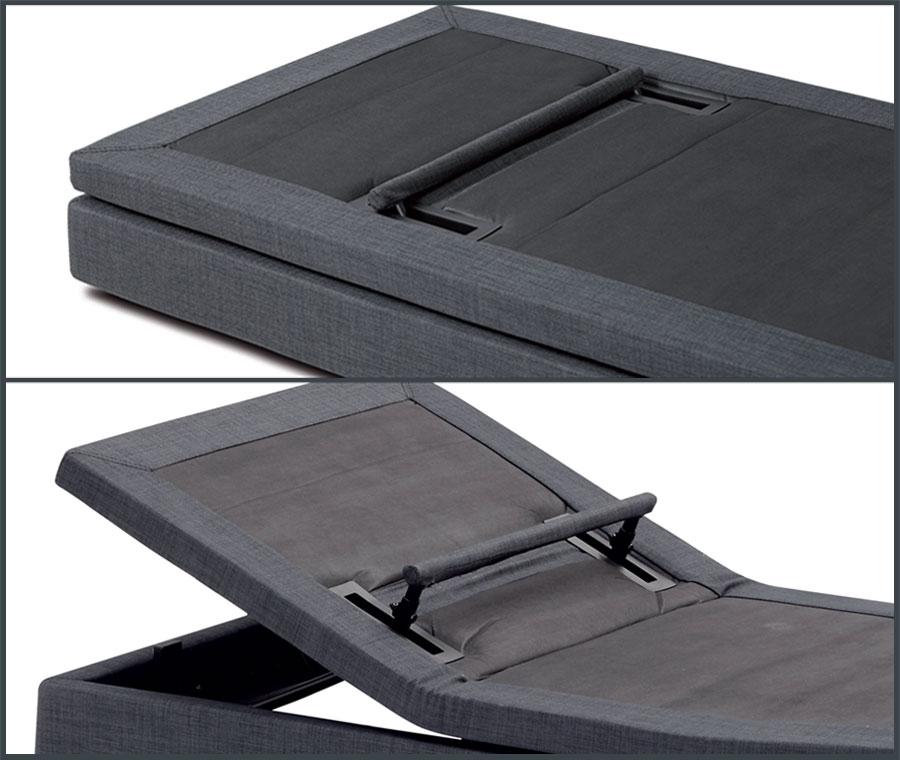 Motorisiertes Bett Hi_motion: ausziebare Beckenstütze
