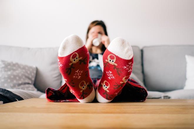Halten Sie Ihre Füße warm