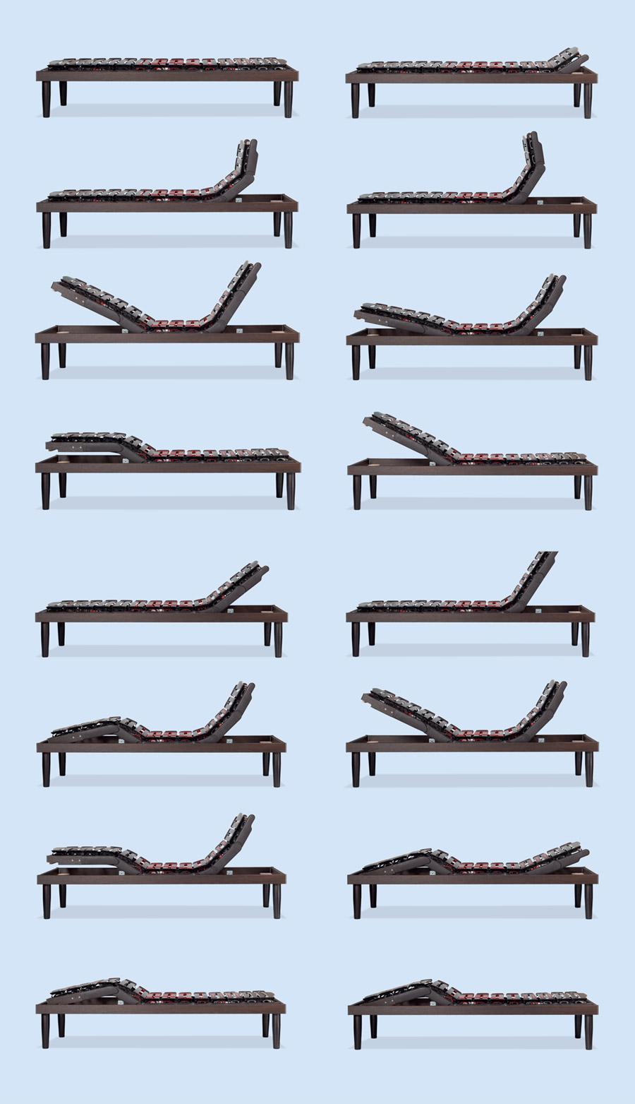 Mögliche Stellungen mit dem Unterfederung Ergomovie De Luxe