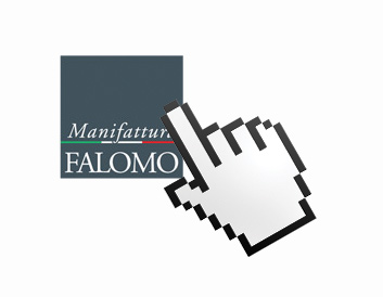 Online Vertrieb der Produkte von Manifattura Falomo.